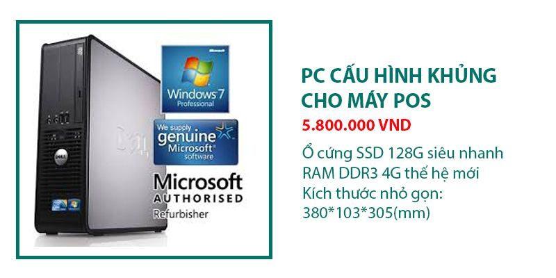Combo máy tính tiền POS – Tặng phần mềm quản lý