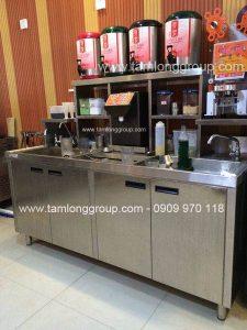 Thi công thiết kế quầy bar trà sữa inox ở đâu chất lượng uy tín giá rẻ tại TP.HCM